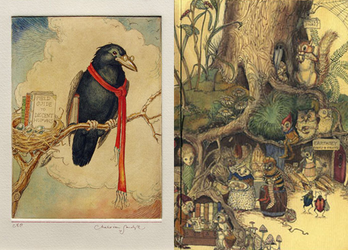 Charles Van Sandwy Illustrations